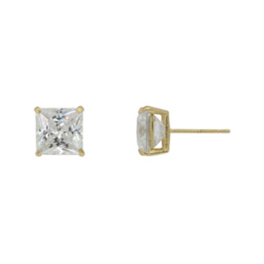 jcpenney.com | Diamonart® 10K Yellow Gold Cubic Zirconia 1.4 CT. T.W Princess Cut Stud Earrings