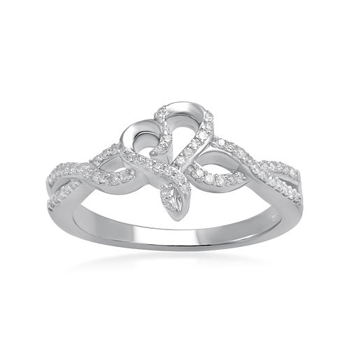 Hallmark Diamonds 1/5 CT. T.W. Diamond Sterling Silver Ring