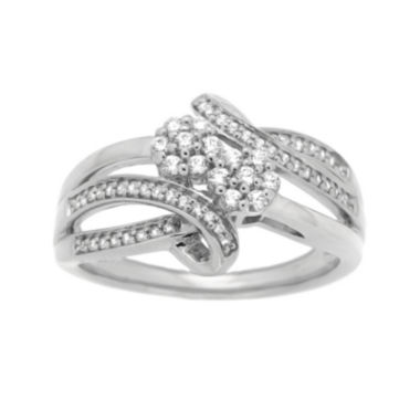 jcpenney.com | diamond blossom 1/3 CT. T.W. Diamond Sterling Silver Ring