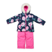 Carter's® Pink Floral Long-Sleeve Coat - Toddler Girls 2t-5t