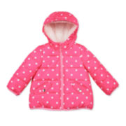 Carter's® Pink Dot Long-Sleeve Coat - Toddler Girls 2t-5t