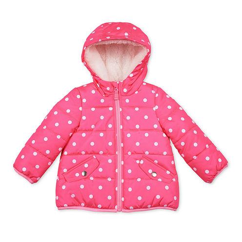 Carter's® Pink Dot Long-Sleeve Coat - Preschool Girls
