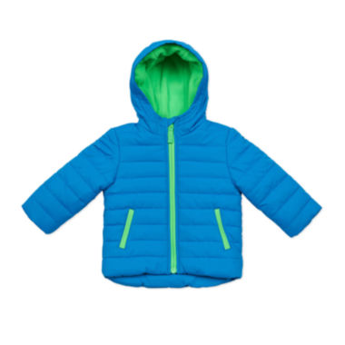 jcpenney.com | Carter's® Blue Quilted Long-Sleeve Hooded Coat - Toddler 2-4T
