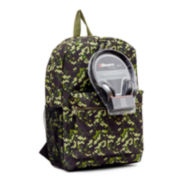 "Octo Green Camo Boys' 17"" Backpack with Headphones"