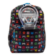 "Gamer Boys' 17"" Backpack with Headphones"