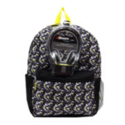 Lime Pop DigiCamo Boys' Backpack with Headphones