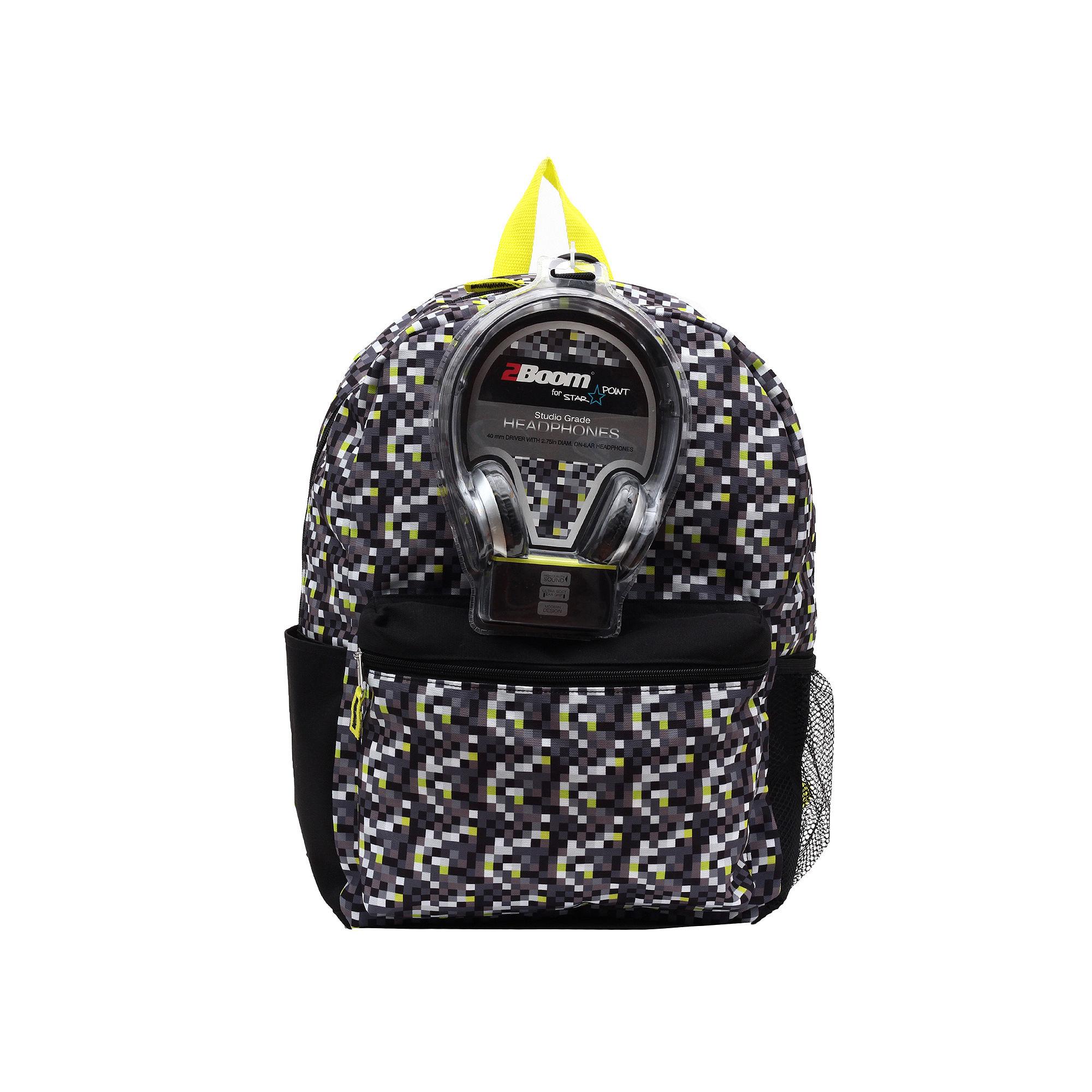 Lime Pop DigiCamo Boys' Backpack with Headphones