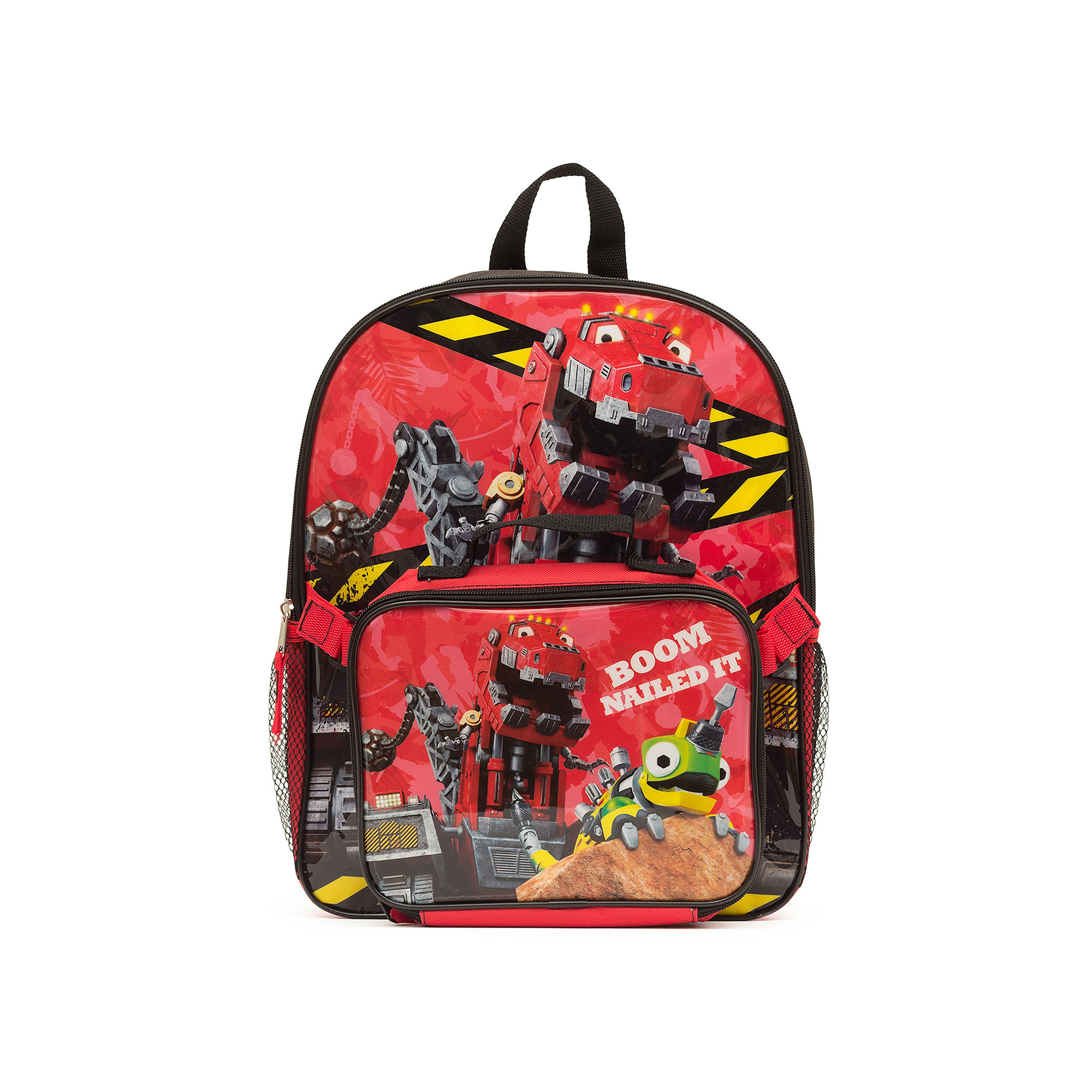 """DinoTrux """"Boom Nailed It!"""" Boys' Backpack with Lunch Kit"""