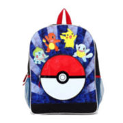 "Pokémon ""Group Jump"" Boys' 16"" Backpack with Poké Ball Pocket"
