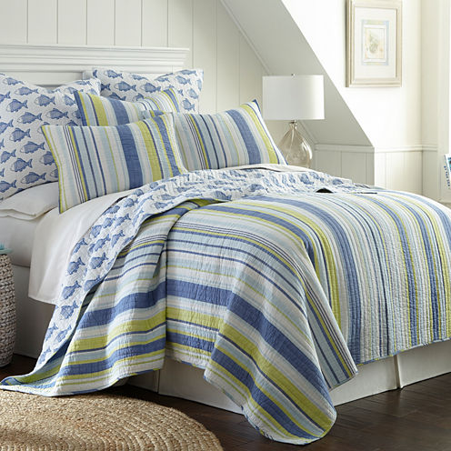 Levtex Hera Stripes Quilt Set