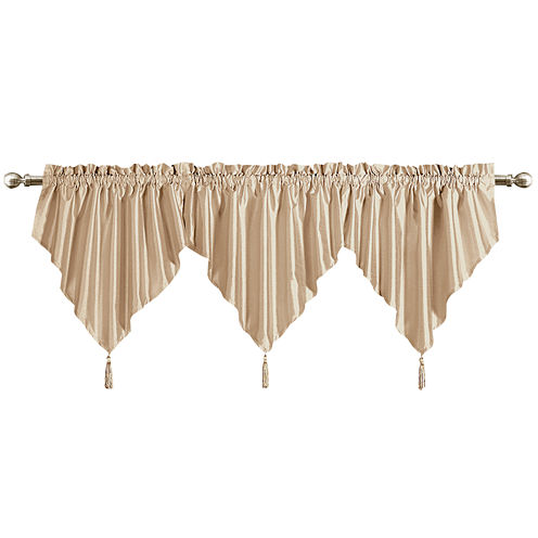 United Curtain Co. Anna Rod-Pocket Ascot Valance