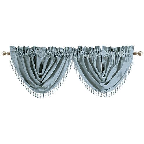 United Curtain Co. Anna Rod-Pocket Waterfall Valance