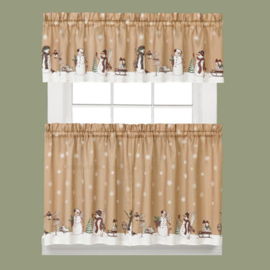 jcpenney.com | Aspen Snow Rod-Pocket Kitchen Curtains