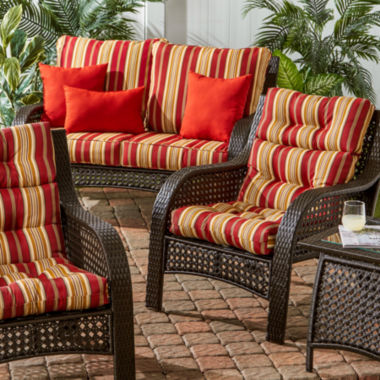 jcpenney.com | Outdoor High Back Set of 2 Chair Cushion