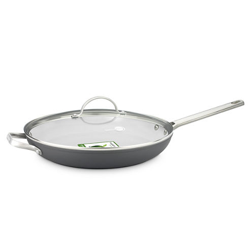 "GreenPan™ Padova 12"" Hard-Anodized Nonstick Fry Pan with Lid and Helper Handle"
