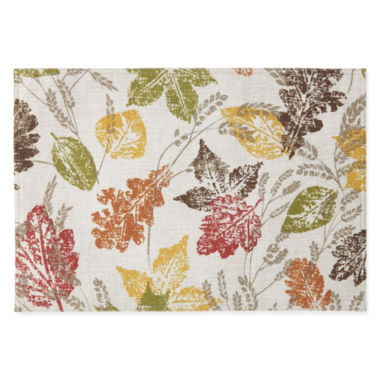 jcpenney.com | JCPenney Home™ Sprawling Leaves Set of 4 Placemats