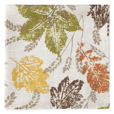 jcpenney.com | JCPenney Home™ Sprawling Leaves Set of 4 Napkins