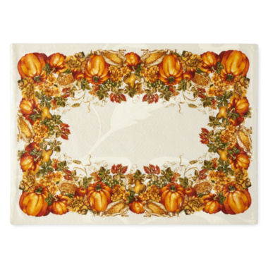 jcpenney.com | JCPenney Home™ Harvest Pumpkin Border Set of 4 Placemats