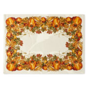 JCPenney Home™ Harvest Pumpkin Border Set of 4 Placemats