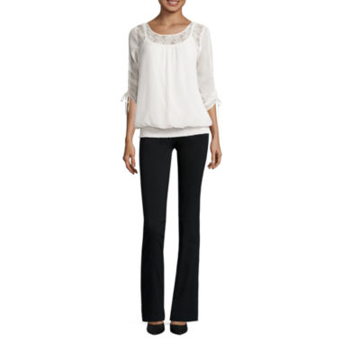 jcpenney.com | Alyx® 3/4-Sleeve Smock-Bottom Top or Millennium Slim Pants