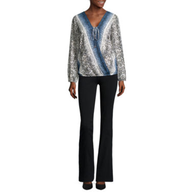 jcpenney.com | Alyx® Long-Sleeve Wrap-Front Woven Top or Straight-Leg Millennium Pants