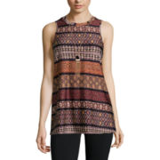 Alyx® Sleeveless Boho Striped Knit Tunic