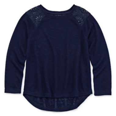 jcpenney.com | Arizona Long-Sleeve Lace-Shoulder Top - Preschool Girls 4-6x