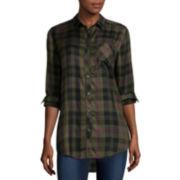 Arizona Long-Sleeve Boyfriend Plaid Shirt