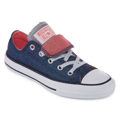 Converse Chuck Taylor All Star Double Tongue Shine And Shimmer Girls Sneakers Little KidsBig Kids