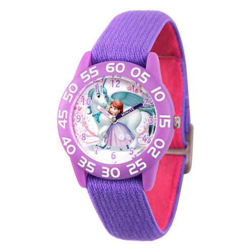 Disney Princess Sofia The First Girls Purple Strap Watch-Wds000267