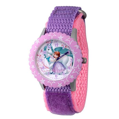 Disney Princess Sofia The First Girls Purple Strap Watch-Wds000271