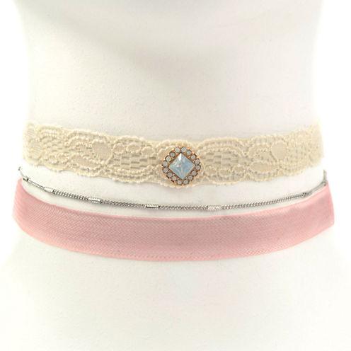 Carole Womens 3-pc. White Necklace Set