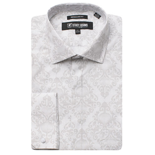 Stacy Adams Long Sleeve Woven Floral Shirt