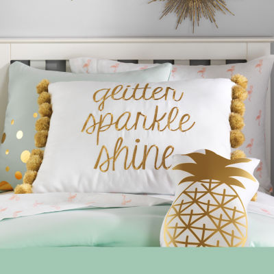 Frank And Lulu Glitter Sparkle Shine Throw Pillow
