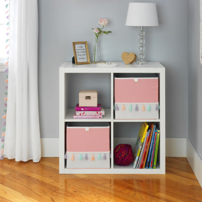 Frank And Lulu Pink Colorblock Storage Cube