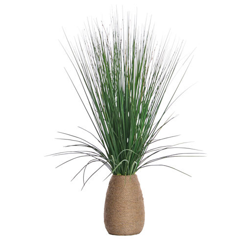 "Laura Ashley 29"" Tall Grass With Twigs In Hemp Rope Container"