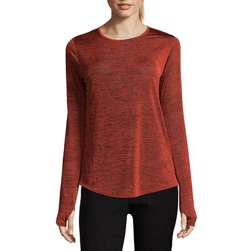 Libby Edelman Long Sleeve Space Dye Top