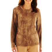 Alfred Dunner® Circle Oaks Shimmer Quilted Jacket