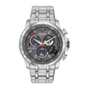Citizen® Eco-Drive® Chrono-Time A-T Mens Silver-Tone Watch BY0100-51H