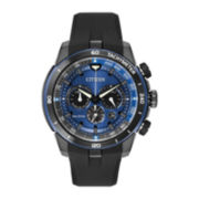 Citizen® Eco-Drive Mens Chronograph Blue Dial Watch CA4155-12L