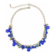 Mixit™ Gold-Tone Blue Bead Shaky Necklace