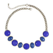 Mixit™ Gold-Tone Blue Collar Necklace