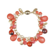 Mixit™ Gold-Tone Coral Bead Shaky Bracelet