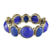 Mixit™ Gold-Tone Blue Bead Stretch Bracelet