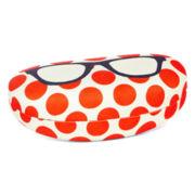 Orange Dot Glasses Case
