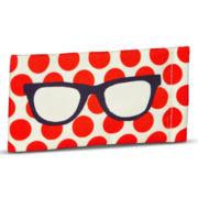 Orange Dot Soft Glasses Case