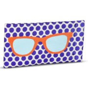 Purple Dot Soft Glasses Case