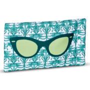 Green Cat-Eye Soft Glasses Case