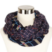 Mixit™ Plaid and Floral Infinity Scarf