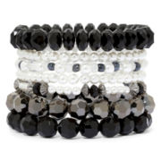 Decree® 7-pc. Mixed Bead Stretch Bracelet Set